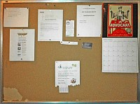 Laundry Bulletin Board