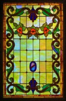 Lobby stained glass